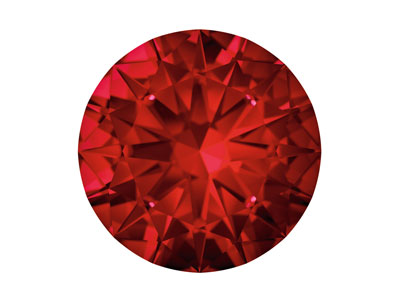 Rub De Swarovski Gemstones Con Corte Brillante Redondo De 1 MM De Color Rojo Intenso