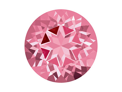 Topacio Swarovski Con Corte Natural Brilliance De 5,00 MM Rosa