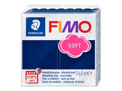 Pastilla De 57 G De Arcilla Polimérica Fimo Soft De Color Azul Windsor, Referencia De Color Fimo 35