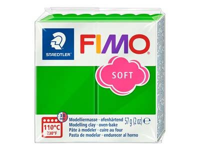 Pastilla De 57 G De Arcilla Polimérica Fimo Soft De Color Verdetropical, Referencia De Color Fimo 53