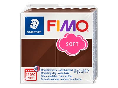 Pastilla De 57 G De Arcilla Polimérica Fimo Soft De Color Chocolate, Referencia De Color Fimo75