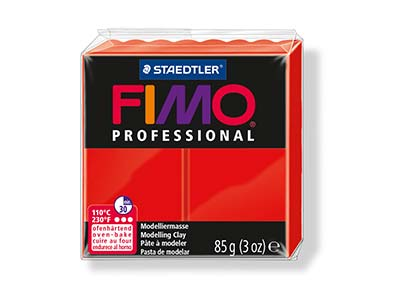 Fimo Professional Red 85g Polymer Clay Block Fimo Colour Reference 200