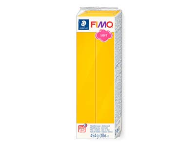 Bloque De Arcilla Polimérica Fimo Soft Sunflower Yellow De 454g, Referencia De Color 16