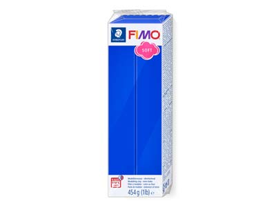 Bloque De Arcilla Polimérica Fimo Soft Brilliant Blue De 454g, Referencia De Color 33