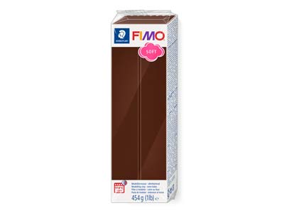 Bloque De Arcilla Polimérica Fimo Soft Chocolate De 454g, Referencia De Color 75
