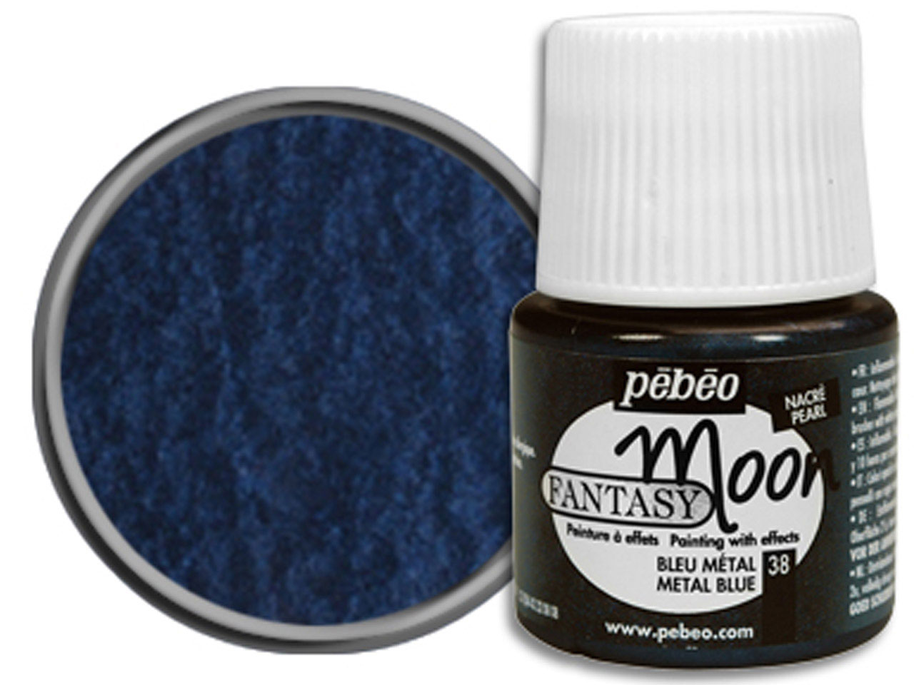 Pebeo Fantasy Moon, Metal Blue, 45 Ml Un 1263