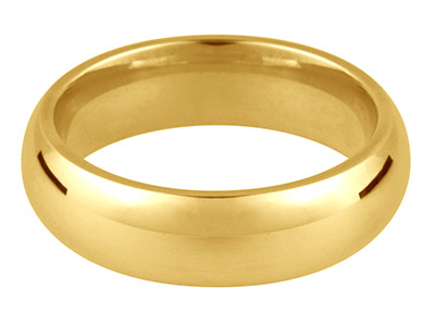 Alianza De Boda Curvada En Oro Amarillo De 9 Ct, 3,0 MM 13 38 2,8 G Peso Intermedio Con Sello De Contraste Británico Grosor De Pared De 1,59 MM