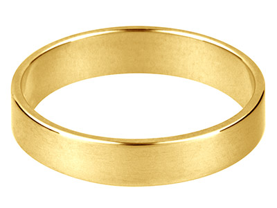 Alianza De Boda Plana En Oro Amarillo De 9 Ct, 2,0 MM 15 14 1,6 G Peso Intermedio Con Sello De Contraste Británico Grosor De Pared De 1,09 MM