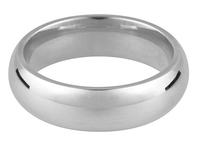 Alianza De Boda Curvada En Oro Blanco De 18ct, 3,0mm, 12 18, 4,0g, Peso Intermedio, Con Sello De Contraste Británico, Grosor De Pared De 1,61mm