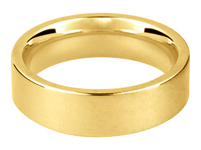Alianza De Boda De Fácil Colocacin En Oro Amarillo De 18ct, 8,0mm, 23 38, 13,9g, Peso Intermedio, Con Sello De Contraste Británico, Grosor De Pared De 1,94mm