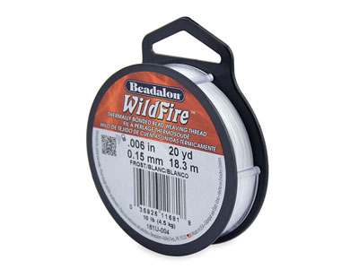 Hilo Beadalon Wildfire Frost, 0,15mm X 18,3M