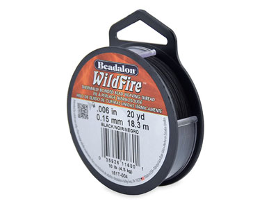 Hilo Beadalon Wildfire Negro 0,15 MM X 18,3 M