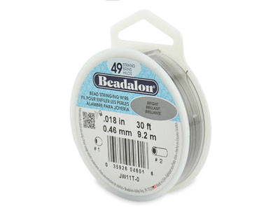Hilo Brillante Beadalon De 49 Hebras, 0,46 MM X 9,2 M
