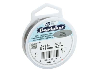 Hilo Brillante Beadalon De 49 Hebras, 0,53 MM X 9,2 M