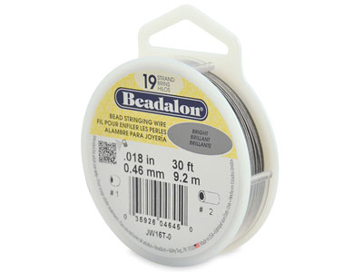 Hilo Brillante Beadalon De 19 Hebras, 0,46 MM X 9,2 M