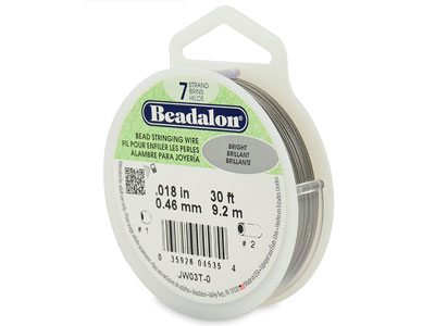 Hilo Brillante Beadalon De 7 Hebras, 0,46 MM X 9,2 M