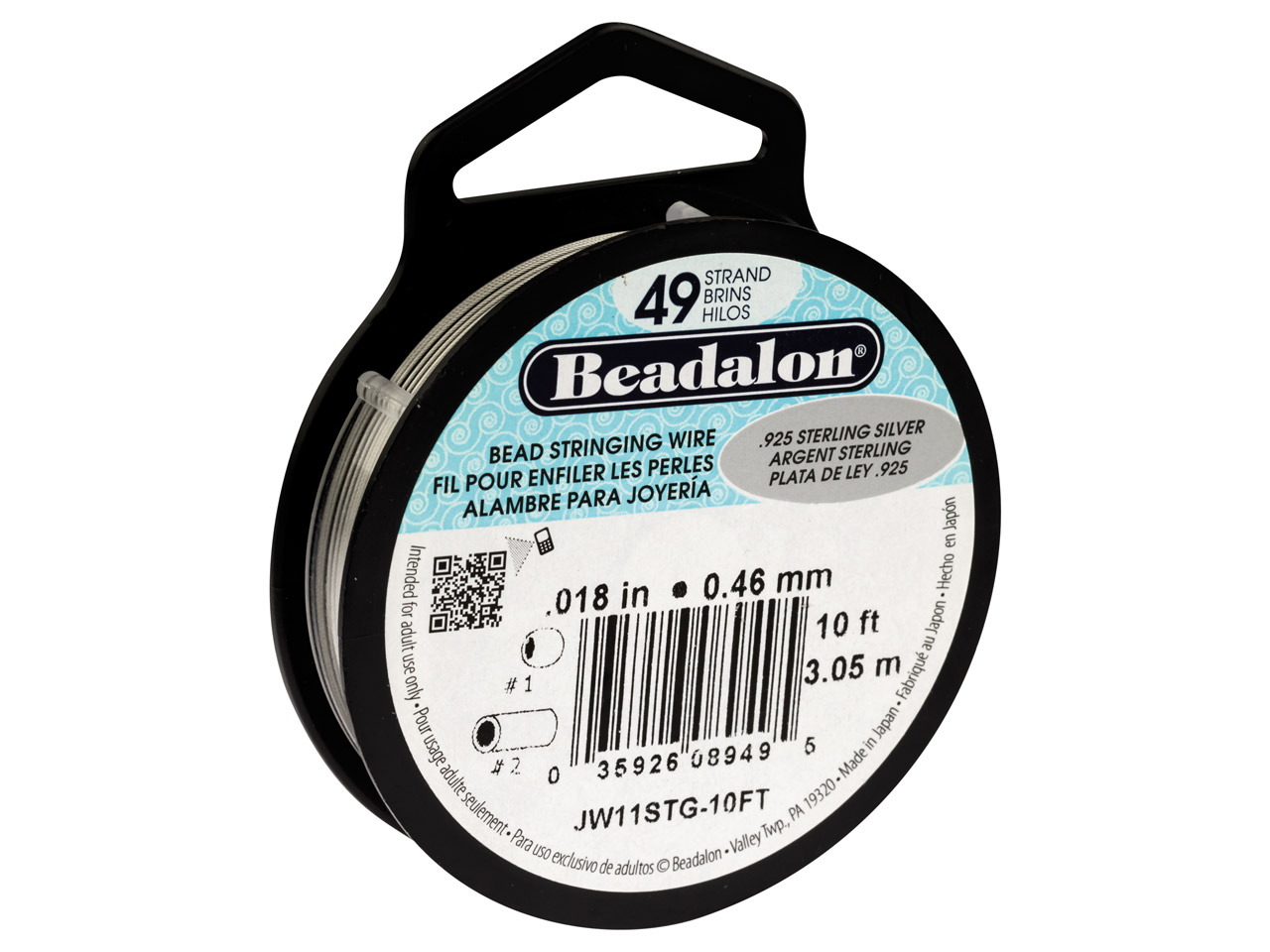 Beadalon Sterling. Hilo De Plata De49 Hebras 0.46mm X 3m