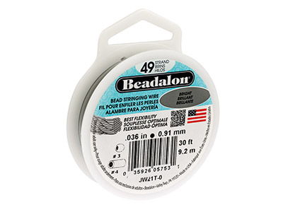 Beadalon Bright. Hilo Brillante De 49 Hebras 0.91mm X 9.2m