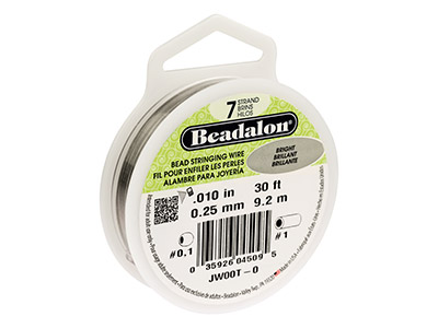 Beadalon Bright. Hilo Brillante De 7 Hebras 0.25mm X 9.2m