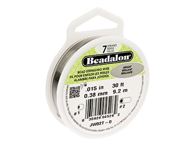 Beadalon Bright. Hilo Brillante De 7 Hebras 0.38mm X 9.2m