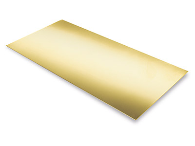 Lámina Df De Oro Amarillo De 9 Ct, 1,60 MM
