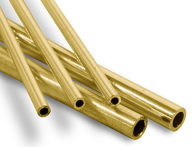 Tubo Df De Oro Amarillo De 9 Ct, Ref. 14, Diámetro Exterior De 1,2 Mm, Diámetro Interior De 0,8 Mm, Pared De 0,2 MM