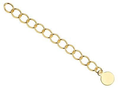 Gold Pltd 4.5mm Fancy Extension Chain Rnd Dropper Pk 5 Uh