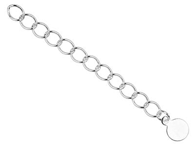 Sil Pltd 4.5mm Fancy Extension Chain Rnd Dropper Pk 5 Uh