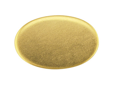 Base De Oro Amarillo Df De 9 Ct Kc8208, 1,00 Mm, Ovalada Recocido Completo, 19 MM X 12.5mm