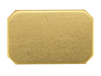 Base De Oro Amarillo Df De 9 Ct Kc8233, 1,00 Mm, Rectangular Recocido Completo, 17 MM X 11 Mm, Esquinas Recortadas