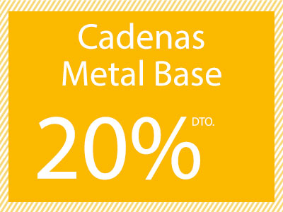 Cadenas metal base